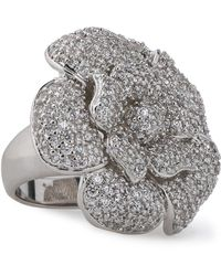 CZ by Kenneth Jay Lane - Silver-tone Crystal Ring - Lyst