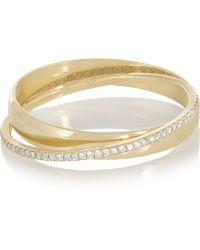 Inez & Vinoodh - 18-karat Gold Diamond Interlinked Rings - Lyst