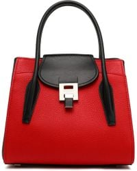 Michael Kors - Bancroft Two-tone Smooth And Pebbled-leather Tote - Lyst