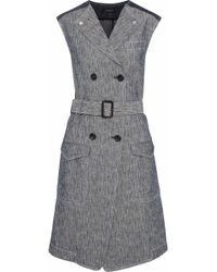 Derek Lam - Double-breasted Two-tone Cotton-chambray Dress - Lyst