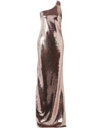 Tom Ford - One-shoulder Sequined Stretch-mesh Gown - Lyst