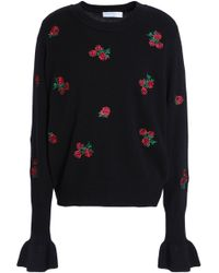 Sandro - Embroidered Wool Jumper - Lyst