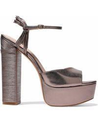 Rachel Zoe - Willow Metallic Leather Platform Sandals - Lyst