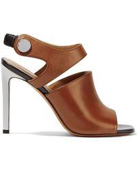 Carven - Embellished Leather Slingback Sandals - Lyst