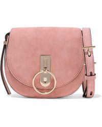 Nina Ricci - Embellished Suede Shoulder Bag - Lyst