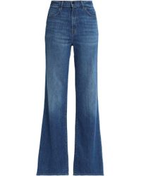 J Brand - Faded High-rise Bootcut Jeans Mid Denim - Lyst
