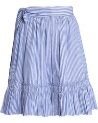 Alexis - Shirred Striped Cotton-poplin Skirt - Lyst