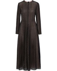 Lanvin - Broderie Anglaise Cotton And Silk-blend Midi Dress - Lyst