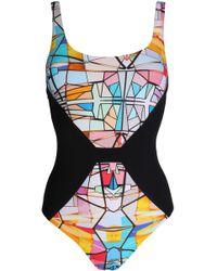Lucas Hugh - Printed Swimsuit - Lyst