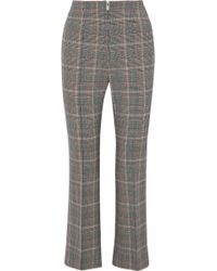 Sonia Rykiel - Cropped Houndstooth Wool-blend Flared Trousers - Lyst