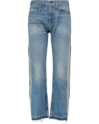 Rag & Bone - Marilyn High-rise Two-tone Cropped Straight-leg Jeans - Lyst