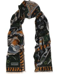 Emilio Pucci - Frayed Printed Wool, Silk And Cashmere-blend Scarf - Lyst