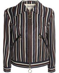 Nina Ricci - Striped Wool And Silk-blend Twill Jacket - Lyst