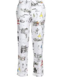 Mimi Holliday by Damaris - Printed Silk-twill Pajama Pants - Lyst
