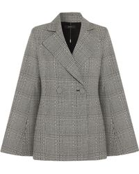 Ellery - Boycott Fluted Prince Of Wales Checked Wool Blazer - Lyst