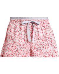 Calvin Klein - Floral-print Cotton-poplin Pyjama Shorts - Lyst