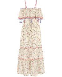 Anjuna - Woman Violante Crochet-trimmed Printed Cotton-voile Maxi Dress Multicolor - Lyst