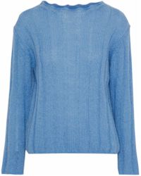 M.i.h Jeans - Woman Carolee Ribbed Mohair-blend Sweater Azure - Lyst
