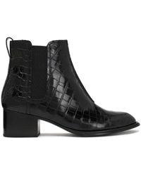 Rag & Bone - Walker Ii Croc-effect Leather Ankle Boots - Lyst