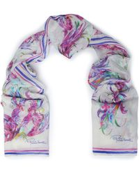 Roberto Cavalli - Printed Modal And Silk-blend Gauze Scarf - Lyst