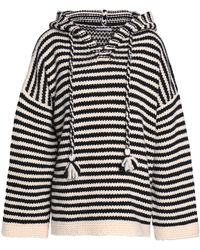 See By Chloé - Striped Wool Hooded Jumper - Lyst