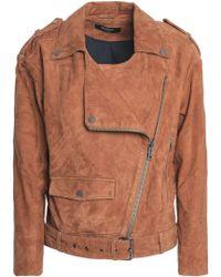 Muubaa - Suede Biker Jacket - Lyst