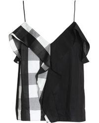 Rag & Bone - Paneled Ruffled Gingham Cotton Camisole - Lyst