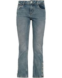 107668d0 Maje High-rise Kick-flare Jeans Light Denim in Blue - Lyst