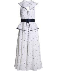Gül Hürgel - Backless Satin-trimmed Linen Midi Dress - Lyst