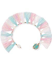 Rosantica - Baby Tinsel, Turquoise And Quartz Bracelet - Lyst