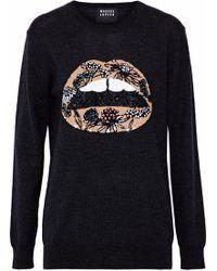 Markus Lupfer - Sequin-embellished Merino Wool Sweater - Lyst
