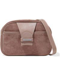 Zimmermann - Leather-paneled Suede Shoulder Bag - Lyst