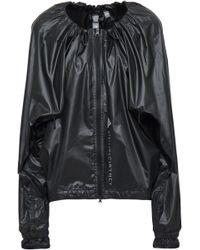 adidas By Stella McCartney - Woman Printed Shell Jacket Black - Lyst