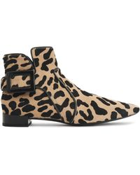 Roger Vivier - Buckled Leopard-print Calf Hair Ankle Boots Animal Print - Lyst