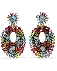 DANNIJO - Mathilde Silver-plated Swarovski Crystal Earrings - Lyst