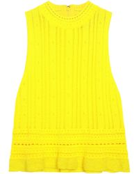 3.1 Phillip Lim - Pointelle-knit Top Bright Yellow - Lyst