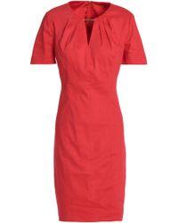 Elie Tahari - Cutout Linen-blend Dress - Lyst