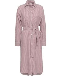Commando - Belted Striped Jacquard Nightshirt Claret - Lyst