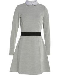 Maison Kitsuné - Color-block Stretch-knit Mini Dress - Lyst