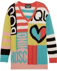 Boutique Moschino - Intarsia Cotton Sweater - Lyst