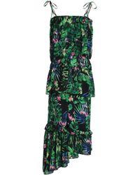 W118 by Walter Baker - Tasha Ruffled Floral-print Crepe De Chine Midi Dress - Lyst