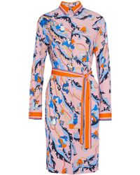 Emilio Pucci - Belted Printed Jersey Shirt Dress - Lyst