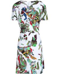 Versus - Woman Printed Crepe Mini Dress White - Lyst