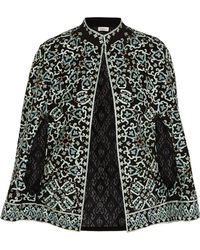 Talitha - Embroidered Silk Cape - Lyst