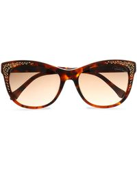 Roberto Cavalli - Cat-eye Tortoiseshell Acetate And Gold-tone Sunglasses - Lyst