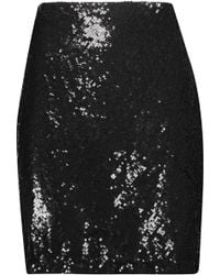 L'Agence - Phoebe Sequined Crepe Skirt - Lyst