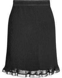 Carven - Pleated Crepe Mini Skirt - Lyst