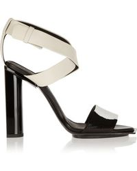 Calvin Klein - - Iris Bead-embellished Leather Sandals - Off-white - Lyst