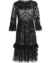 Needle & Thread - Embellished Ruffled Tulle Dress - Lyst