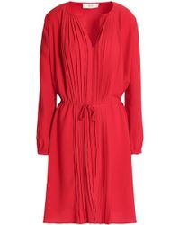 Vanessa Bruno Athé - Pleated Crepe Dress - Lyst